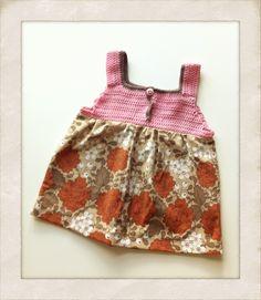 Kjole med hæklet overdel og retro-skørt - Handmade by LS www.lisbeth-s.dk