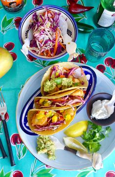 I love fish tacos because they are delicious, healthy and fresh.