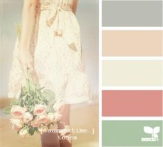 Spring colors!  Yes!!! These are the soft colors that I love!