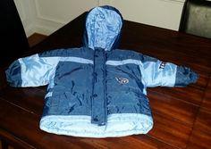Kids Size 2T 2 Tennessee Titans NFL Puffy Jacket Coat Boys MightyMac Sports #MightyMac #HoodedCoatwithZipper #Everyday