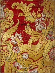 Panel, detail. England, early 18th century