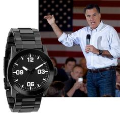 Mitt Romney Wears Nixon Private SS Watch. Iʻm quite tempted to get one just for that reason.