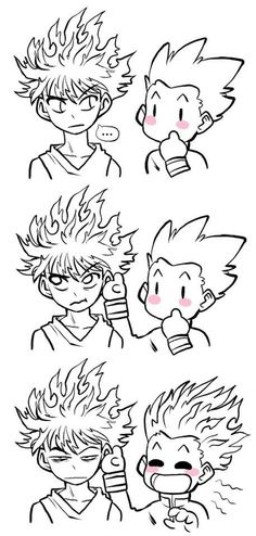 Adorable Killua and Gon.