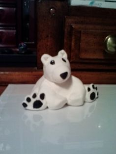 Polar Bear made out of Crayola's Model Magic(: