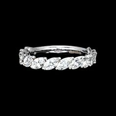Marquis eternity ring Would be beautiful if every second stone was an aqua…