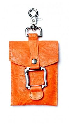 Pouch - Orange -   love this for going out. Can hook to belt loop.