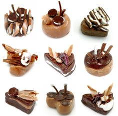 Miniature Foods Chocolate Cake Polymer Clay Supplies by claydecor