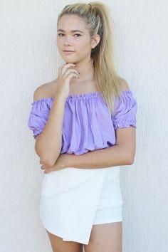 Image of Lavender Gypsy Crop top