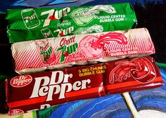 Dr Pepper and gum - it was good for about the first 30 seconds as you chewed up the glob of semi-solid goop flavored vaguely like that of the soda. The flavor then quickly faded into a mass of crap that was impossible to blow bubbles with. Retro Candy, Vintage Candy, 1980s Candy, 1980s Food, Sibling Fighting, Penny Candy, 80s Kids, Dr Pepper, Candy Shop