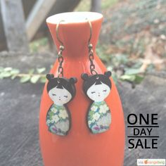 Today Only! 30% OFF this item. Follow us on Pinterest to be the first to see our exciting Daily Deals. Today's Product: Sale - wooden earrings kokeshi doll earrings - Wooden doll earrings - Matryoshka doll earrings - cute doll - green flower pattern earrings - Buy now: https://orangetwig.com/shops/AACCxXZ/campaigns/AACC1WT?cb=2016002&sn=ciutecreations&ch=pin&crid=AACC3u7&exid=258016336