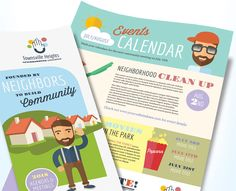 Make a monthly newsletter for your neighborhood association with pre