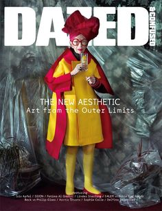 Iris Apfel - Dazed & Confused cover, in honor of their Art issue, November 2012, Commes des Garcons from head to toe.   Photographed by Jeff Bark.