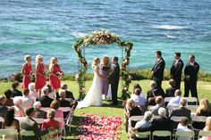 Cuvier Park, La Jolla. My wedding was here, very easy because the surroundings is the decor. Was private too. And cheap for SanDig residents. FYI