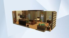Check out this room in The Sims 4 Gallery! - This is a huge bedroom suite for that sim who deosn't like to go out much.. but with a bedroom like this, why leave?..ever! #bedroom #bachelor #closet #canopybed #suite #ensuite #apartment #loft #nocc