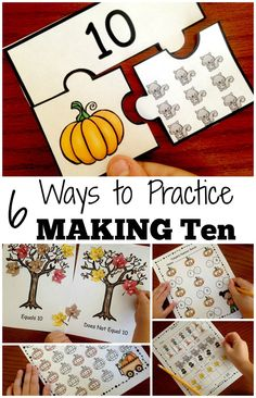 Want to help your students master making 10? Check out these engaging fall activities designed to help your students explore equations that make 10. You get FREE number puzzles. Ten frames, mazes, number bonds and more are also available.