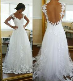I like the cut would change the back a bit and maybe have a bit more lace though. Very pretty dress