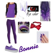 Bonnie the Bunny (Five Nights at Freddy's) by kyro19 on Polyvore featuring polyvore, fashion, style, Lauren Ralph Lauren, Vans, Forzieri and Rich & Skinny