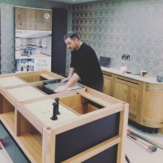 Whether you prefer #granite, #marble or #wood, we can help you #design a #bespoke #island for your #kitchen!