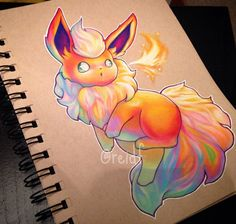 Image discovered by chilia power. Find images and videos about cute, art and colors on We Heart It - the app to get lost in what you love. Pokemon Craft, Pokemon Fan Art, All Pokemon, Pokemon Eeveelutions, Eevee Evolutions, Cute Animal Drawings, Cute Drawings, Photo Pokémon, Cartoon Tattoos