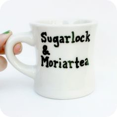 Funny coffee mug tea cup ceramic #Sherlock Holmes hand painted