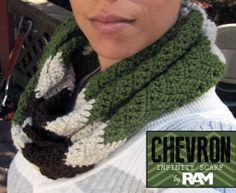 Chevron Infinity Scarf by DesignsByRAMDesigns on Etsy, $25.00