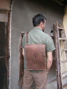 15inch banduliera laptop bag, Vertical Laptop Bag, Handmade Laptop Bag, Genuine Leather Bag