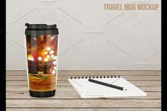 Travel coffee mug mockup v1 Graphics **Travel coffee mug mock-up v1**You will get:- Photoshop CS3 File and JPEG- 2500 x 1800 pixels by aivos
