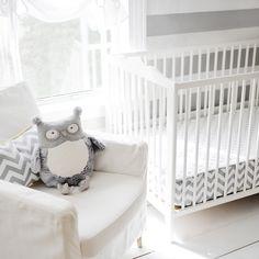 Zig Zag Baby Bumperless Crib Sheet