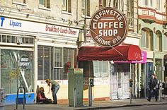 Lafayette Coffee Shop in the Tenderloin District, San Francisco  www.mitchellfunk.com