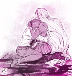 Awww <3 this is nice, most arts like this show Kazuma comforting Bishamon, but I think it's important to show the other side too :) | Noragami