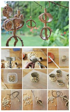 Upcycle a few items in your house into a bird feeder mobile project! Science meets design and art. Craft Activities For Kids, Projects For Kids, Craft Projects, Preschool Ideas, Craft Ideas, Crafts To Make, Crafts For Kids, Arts And Crafts, Babble Dabble Do
