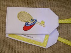 Tennis Luggage Tag.  Need a gift for a tennis player?  This luggage tag will be an appreciated travel accessory.