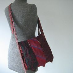 VERY cool, messenger bag made from neckties. (no DIY, just an Etsy you should check out!)