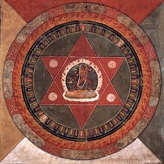 Tibetan Mandala, Naropa School painted with Vajrayogini in center. 19th C. Rubin Museum