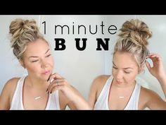 Looking to get the perfect messy bun? With all video tutorials of dozens of messy buns, you can find the one that is right for your hair type. bun hairstyles 29 Tutorials To Help You Get The Perfect Messy Bun Curly Hair Styles, Short Hair Styles Easy, Medium Hair Styles, Bun Styles, Hair Donut Styles, Messy Bun For Short Hair, Perfect Messy Bun, Messy Bun How To, Cute Messy Buns