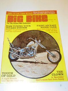 """VTG """"BIG BIKE"""" (MAY1970) CHOPPER MOTORCYCLE MAGAZINE: CUSTOM BIKE HOG CYCLE"""
