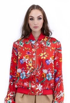 Floral Bomber Jacket, Jacket Style, Silk Top, Cotton Dresses, Silk Dress, Clean Lines, Blouse, How To Wear, Jackets