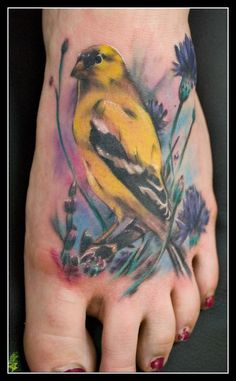 Yellow Finch Tattoo