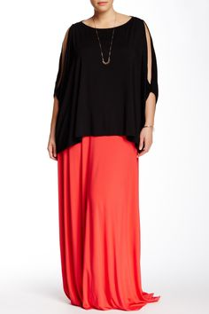 Long Maxi Skirt (Plus Size) by White Label by Rachel Pally on @nordstrom_rack
