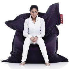Purple beanbag chair by fatboy
