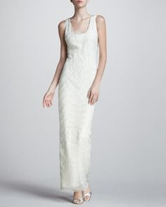 Scallop Beaded Gown by Aidan Mattox at Neiman Marcus.