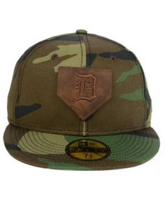 New Era Detroit Tigers The Logo of Leather 59FIFTY Cap - Green 7 5/8