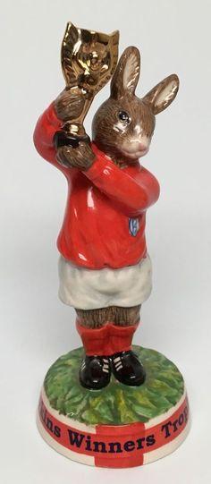 "Gold Trophy Royal Doulton ""Bunnykins Winners Trophy 1966"" Figurine DB410 | eBay"
