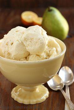 Skinny Pear and Meyer Lemon Ice Cream|Craving Something Healthy
