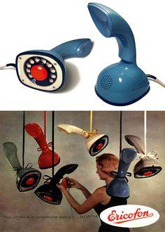 The Vault Of The Atomic Space Age — advertisingpics: Ericofon, 1954 Source:. Telephone Vintage, Vintage Phones, Vintage Ads, Vintage Designs, Vintage Magazines, Vintage Advertisements, Atomic Age, Mid Century Decor, Googie