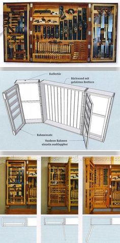Hanging Tool Cabinet - Workshop Solutions Plans, Tips and Tricks | WoodArchivist.com #woodworkingprojects