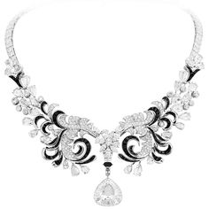 Van Cleef & Arpels Black & White Feathers necklace, Swan Lake ballet, Ballet Précieux collection