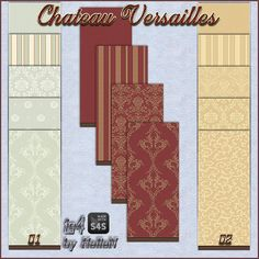 Wallpapers Chateau Versailles by HelleN at Sims Creativ via Sims 4 Updates #Sims4