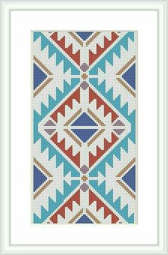 This Cross Stitch Pattern Geometric pattern Tribal cross stitch Modern cross stitch pattern Navajo Indian is just one of the custom, handmade pieces you'll find in our patterns & blueprints shops.Items similar to Modern cross stitch pattern Navajo cr Cross Stitch Geometric, Modern Cross Stitch Patterns, Cross Stitch Designs, Tapestry Crochet Patterns, Needlepoint Patterns, Embroidery Patterns, Needlepoint Belts, Bargello Quilt Patterns, Needlepoint Stockings