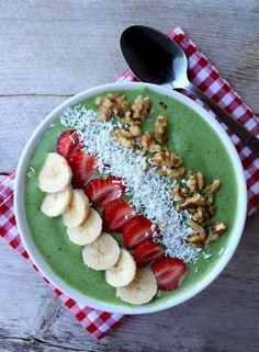 Grønn, nydelig smoothie skål - LINDASTUHAUG